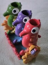 Seahorse Toothbrush Holder For Childrens Bathroom Decoration multi color