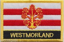 Westmorland County Flag Embroidered Patch Badge - Sew or Iron on