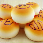 Smile Expression Colorful Buns Squishy Soft Bread Scent Phone Strap Charms WF