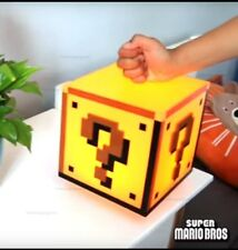 Super Mario Question Block Light USB/Battery Night Lamp Sound Effect Options