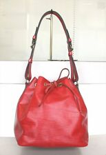 AUTHENTIC LOUIS VUITTON PETIT NOE EPI RED