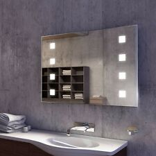 Light Mirrors Wide Cube Bathroom Mirror Bright LED Lights with Infra Red Sensor