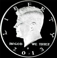 2013 S 90% SILVER GEM PROOF KENNEDY HALF DOLLAR deep cameo