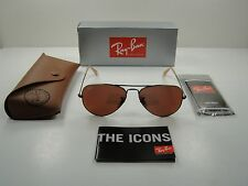 RAY-BAN AVIATOR SUNGLASSES RB3025 167/2K BRONZE-COPPER/RED MIRROR LENS 58MM