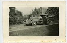Pretty Girl In Cool Old Car Open Suicide Door Cleveland OH Vintage 1940 Photo