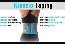 Kinesio Classic Muscle Support Tape Roll - Black - 5cm x 5m - Kinesiology