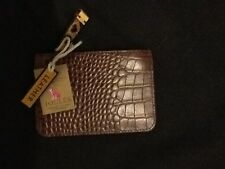 BNWT LADIES JOULES CHARING COIN PURSE IN BROWN CROCODILE LEATHER.