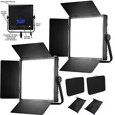 KIT 2x 1024AL LED Dimmable Panel LCD Touch Screen LED Video studio 4 filming lig