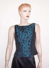 NWOT JS COLLECTION DARK TEAL BLUE BLACK BEADED SATIN SLEEVELESS FORMAL TOP 6