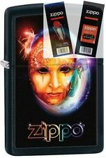 Zippo 28669 venetian mask Lighter with *FLINT & WICK GIFT SET*