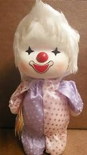 "POTER Toys 10.5"" Wind-Up 1986 Toy Clown Head Moves Musical Plays Love Heart You"