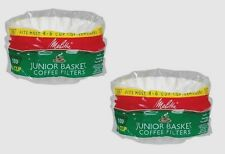 *2** 100ct MELITTA Junior Basket Coffee Filters Most 4-6 Cup Makers Brewer 62912