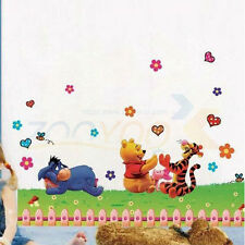 Cartoon cute Winnie the Pooh Girls gift kids room decor Wall sticker wall decals