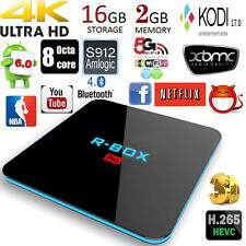S912 R-BOX Pro Smart TV BOX KODI17.0 XBMC Android 6.0 Amlogic Octa Core 2+16GB
