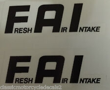 YAMAHA FZR600 FZR750 FZR1000 F.A.I. FRESH AIR INTAKE CAUTION WARNING DECALS X 2