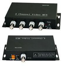 CCTV 4CH Video RS485 Multiplexer Transmitter RG59 Coaxial MUX Modulator