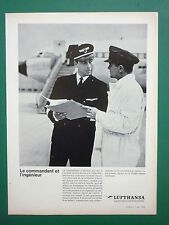 12/1963 PUB LUFTHANSA AIRLINE AIRLINER COMMANDANT INGENIEUR BOEING FRENCH AD