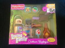 Fisher Price Loving Family Dollhouse Furniture 2010 Outdoor Barbeque Set MIB