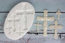Moule silicone, croix, Cross, communion, baptême, ellam Sugarcraft m0131