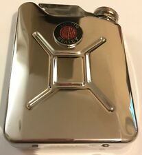 AUSTIN HEALEY Car Petrol Can / Jerry Can Stainless Steel 5oz Drinking Hip Flask