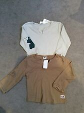 TWO DESIGNER APPAMAN LONG SLEEVE T SHIRTS WITH PICTURES ON SLEEVES AGE 2 - BNWT