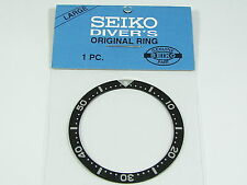 SEIKO Divers LARGE Black Bezel INSERT for 7002 6309 7S26 Automatic Watch