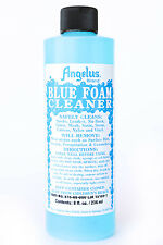 Angelus Blue Foam Cleaner for leather, suede, nubuck, vinyl, straw, canvas 8 oz