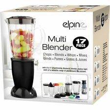 Noir 17pcs multi mixeur food processor centrifugeuse smoothie maker liquidiser mélanges