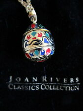 Joan Rivers Enameled Egg Teardrop Pendant & Necklace-New without tag