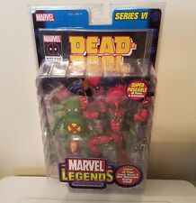 TOY BIZ MARVEL LEGENDS SERIES VI DEADPOOL WITH DOOP AND DISPLAY STAND