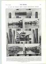 1905 New York in miniatura Venezia Piccione volante da Didcot