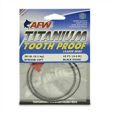 AFW TOOTH PROOF TITANIUM LEADER-Single Strand Wire-20LB Test - NEW! STI020B-15FT