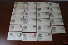 23 UNITED NATIONS FIRST DAY OF ISSUE POSTAL COVER STAMPS FROM 1956, 1957, 1958