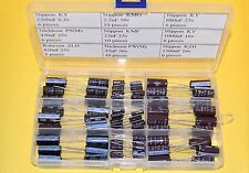 Radial Electrolytic Capacitor Kit 9 values Nippon, Nichicon, with assortment box