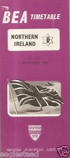 Airline Timetable - BEA - 01/11/56 - Northern Ireland Edition