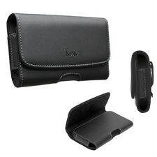 Extra Large Size Leather Pouch Case w/Belt Clip Holster For LG STYLO 2 / K520