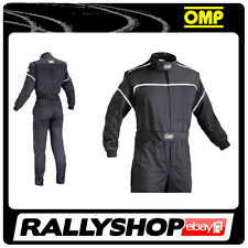 OMP Blast Mechanic Suit size 46 BLACK  Overalls Garage Workshop  RACE RALLY