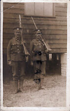 WW1 soldier group 2x Ptes Gloucestershire Regiment Glosters On Guard sloped arms
