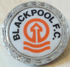 BLACKPOOL FC Vintage insert type badge Brooch pin In chrome 29mm x 29mm