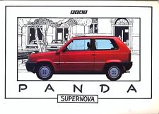 Fiat Panda 750 1000S D 4x4 Supernova 1985 mercado italiano color folleto de ventas