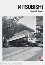 Prospekt LKW Mitsubishi Canter 60 Kipper 1/90 truck brochure Auto Japan Asien