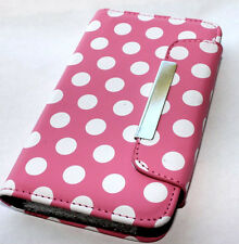 Samsung Galaxy S2 D710 (Sprint/Verizon) - Pink Polka Dots Wallet Flip Pouch Case