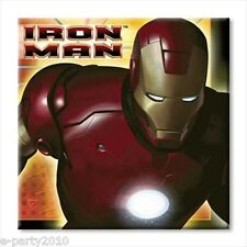 IRON MAN SMALL NAPKINS (16) ~ Birthday Party Supplies Cake Dessert Serviettes