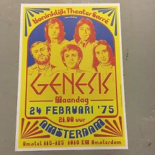 GENESIS - CONCERT POSTER AMSTERDAM HOLLAND 24TH FEBRUARY 1975   (A3 SIZE)
