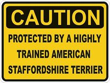 Dog Breed American Staffordshire Terrier Caution Sticker Pet Bumper Car Door