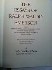 THE ESSAYS OF RALPH WALDO EMERSON First & Second Series Easton Press Greatest