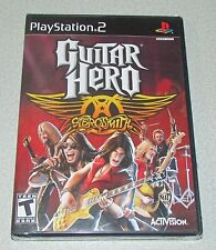 Guitar Hero Aerosmith for Playstation 2 Brand New! Factory Sealed!