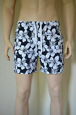 Abercrombie & Fitch Mountain Pond Swim Board Shorts Navy Floral XL RRP £64