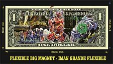 IRON MAIDEN SOMEWHERE IN TIME IMAN BILLETE 1 DOLLAR BILL MAGNET
