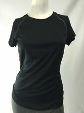 Champion Black Semi Fitted Work Out Fitness Gym Yoga Shirt Women's Small